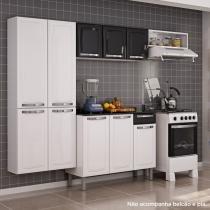 Cozinha Compacta sem Balcão Aço Rose Itatiaia Branco/Preto - Itatiaia