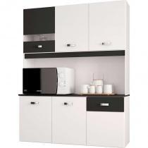 Cozinha Compacta Suspensa 6 Portas e 1 Gaveta Lili - Poquema -