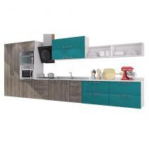 Cozinha Completa 01 Mia Coccina Rústico Com Verde P3 - Art in móveis