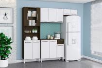 Cozinha Completa Aramóveis Sheila 9 Portas com Balcão Ravello Branco - Branco - Aramóveis