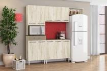 Cozinha Completa com Balcão Aramóveis Isadora Essence Brown - Marrom - Aramóveis