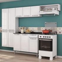 Cozinha Completa com Balcão Rose Itatiaia Branco Neve - Itatiaia