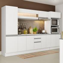 Cozinha Completa Compacta Madesa Smart Modulada Com Armário, Balcão e Tampo 100 MDF -