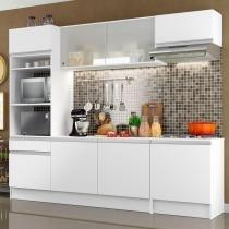 Cozinha Completa Compacta Madesa Topazio com Armário, Balcão e Tampo -