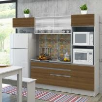 Cozinha Completa Dalva Madesa (Não acompanha Tampo de Pia) Branco/Rustic - Madesa