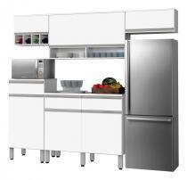 Cozinha Completa Detroit 2.4 Branco - CSA Móveis - CSA Móveis
