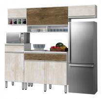 Cozinha Completa Detroit 2.4 Ravena com Ferrara - CSA Móveis - CSA Móveis