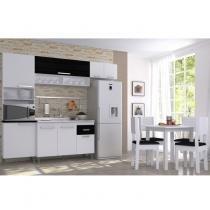 Cozinha Completa Italia com Mesa e 4 Cadeiras (Não Acompanha Pia)Indekes Branco - Indekes