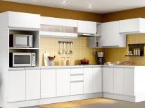 Cozinha Completa Madesa Smart G201729 com Balcão - Nicho para Forno/Micro-ondas 17 Portas 2 Gavetas