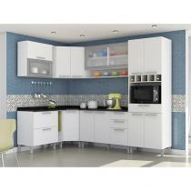 Cozinha Completa Nesher Lady Monalisa Requinte Plus com Balcão 4 Nichos 13 Portas 4 Gavetas