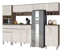 Cozinha Completa San Diego 3.0 Noce com Ravena - CSA Móveis - CSA Móveis