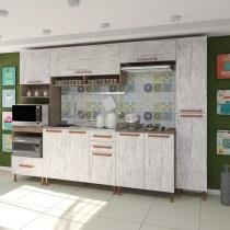 Cozinha Completa sem Tampo 6 Peças Giane Indekes Nogal/Imperial -