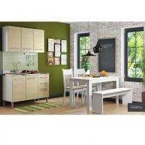 Cozinha Glamy Elis Graciele Branco/Tirol - Madesa - Branco - Madesa