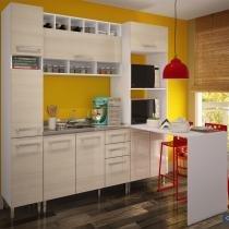 Cozinha Glamy Elis Sandra Branco/Tirol - Madesa - Branco - Madesa