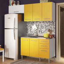 Cozinha Glamy Elis Suzana Branco/Amarelo - Madesa - Branco - Madesa