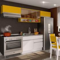 Cozinha Glamy Marina Branco/Amarelo - Madesa - Branco - Madesa