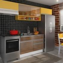 Cozinha Glamy Marina Branco/Western Teka/Amarelo - Madesa - Branco - Madesa