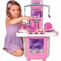 Cozinha infantil big cozinha com fogaozinho, panelinhas, talheres e pia - Big star