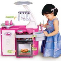 Cozinha Infantil Classic com Fogão Pia Armário 1601 - Cotiplás - Cotiplás
