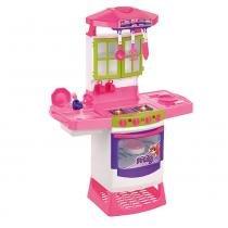 Cozinha Infantil Mágica Eletrônica Super 8019 Magic Toys com Acessórios - Magic Toys