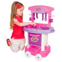 Cozinha Infantil Play Time com Acessórios Rosa Cotiplás 2008 - Cotiplas
