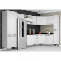 Cozinha Modulada 10 Módulos Bruna Branco - Poquema -