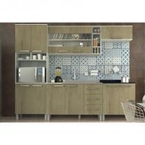 Cozinha Modulada Composição 56 Samia Ártico/Noce - Luciane -