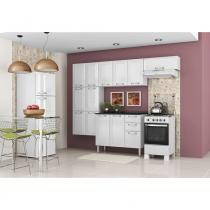 Cozinha Modulada Luce 13 Portas e 2 Gavetas em Aço Branco / Branco Itatiaia - Itatiaia