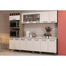 Cozinha Modulada Sense 06 Módulos Kit 3 Nature/Branco - Kappesberg -