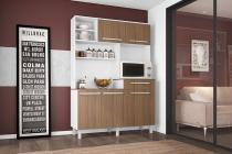 Cozinha Safira 1360 Branco com Montana - Madine Móveis -