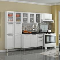 Cozinha Tarsila em Aço 13 Portas 2 Gavetas Branca/Preta - Branca - Itatiaia