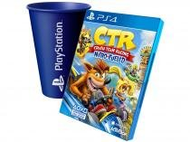 Crash Team Racing Nitro-Fueled para PS4 - Activision + Copo PlayStation Azul