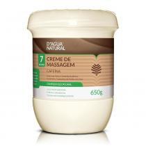 Creme de Massagem Corporal Cafeína 7 Ativos 650g - DÁgua Natural - Dagua Natural