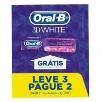 Creme Dental Oral B 3D White Brilliant Fresh 70g Leve 3 Pague 2 - Oral -b