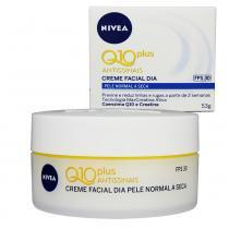 Creme Facial Dia Q10 Plus Antissinais Pele Normal a Seca FPS30 53g - Nivea - Nivea