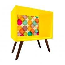 Criado Mudo Quadrado Amarelo Com Fundo 0898 - Phorman