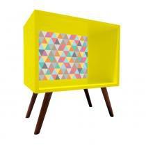 Criado Mudo Quadrado Amarelo Com Fundo 0909 - Phorman