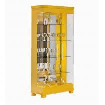 Cristaleira 02 Portas de Vidro Cristal Amarelo Brilho - Imcal -