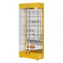 Cristaleira Channel Amarelo - Imcal - Imcal móveis