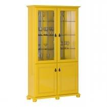 Cristaleira Monet Amarelo - Imcal - Imcal móveis