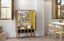 Cristaleira Veneza Demolição/Amarelo - Patrimar Móveis -