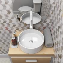 Cuba de Apoio para Banheiro Azalea Slim 35,5cmx35,5cmx12cm Haus Branco - Haus metais