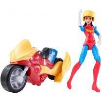 DC Super Hero Girls Ação e Veículo Mulher Maravilha - Mattel - Mattel
