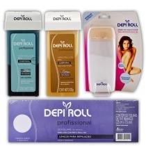 Depi Roll - Kit Depilação com 4 Itens - Depi Roll