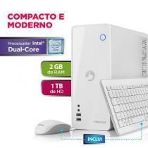 Desktop positivo station c 21tai - celeron dual core 4gb 1tb - linux - branco -