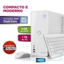 Desktop positivo station c 41ta - dual core 4gb 1tb - w10 - branco - Positivo