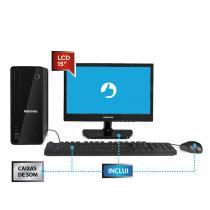 Desktop positivo stilo ds3558 celeron 4gb 500gb lcd 18.5 polegadas  windows 10 -