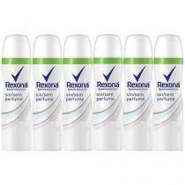 Desodorante Aerosol Antitranspirante Unissex - Rexona Motion Sense Sem Perfume 85ml 6 Unidades