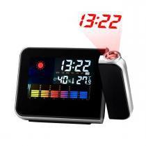 Despertador Digital com Projetor de Horas Prata DS8190 - Importado