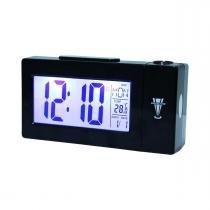 Despertador Digital com Projetor de HorasPreto AT-618 Atima - Importado